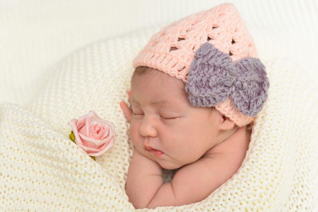 Fotografie Baby mit Mütze